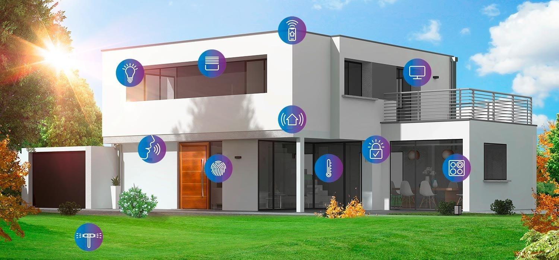 Smarthome mit smartfabrik-Piktogrammen